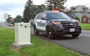 Speed Camera with Police Cruiser