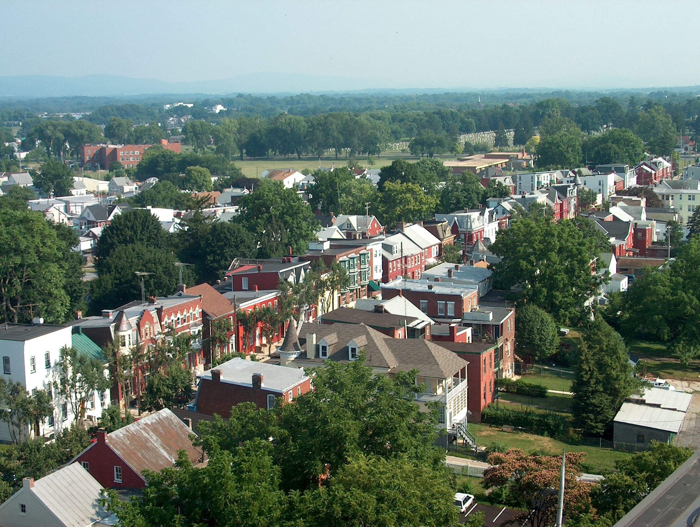 Aerial view of South Potomac Street