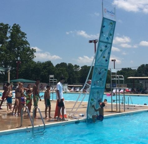 Aquaclimb with kids