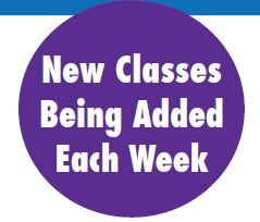 New Classes being added each week_graphic