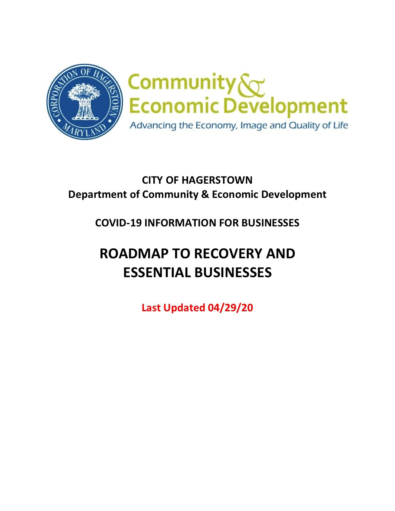 Recovery_Essential Business Information