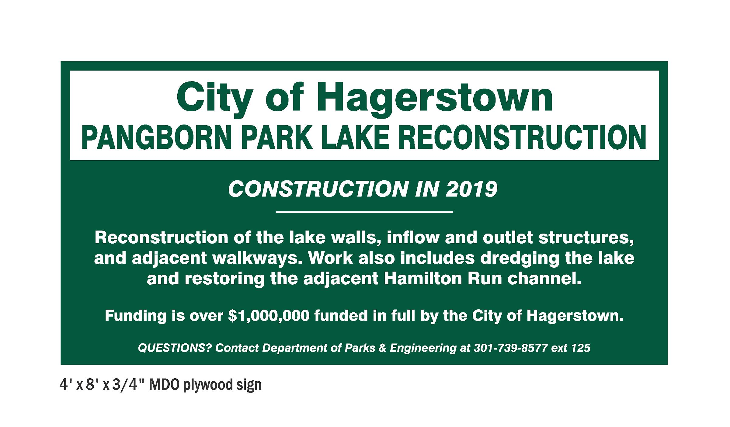 PANGBORN PARK LAKE RECONSTRUCTION