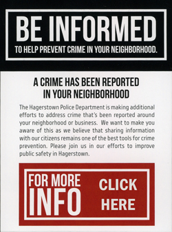 Be Informed, Crime Prevention